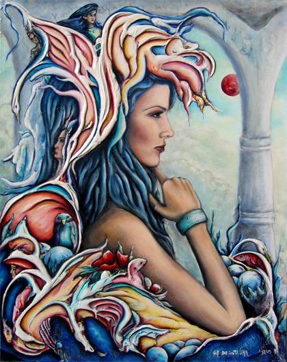 Aphrodite, peiture par Da Costa Lima